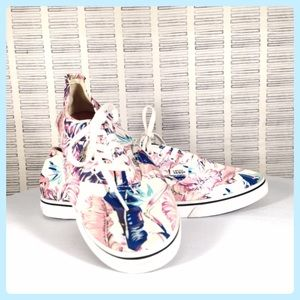 Vans Lo Pro Tropical Blue and Pink